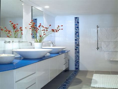 blue white bathroom tile ideas home design ideas