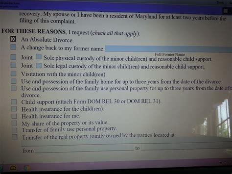 Maryland Divorce Forms Online Archives  The Divorce Place