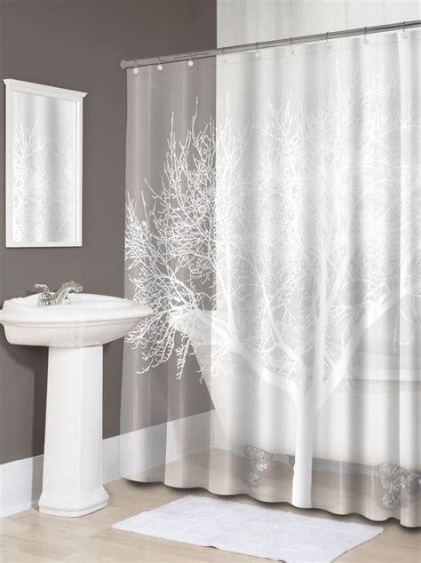 sheer shower curtain white tree shower curtain pearl white bathroom decoration bath splash home