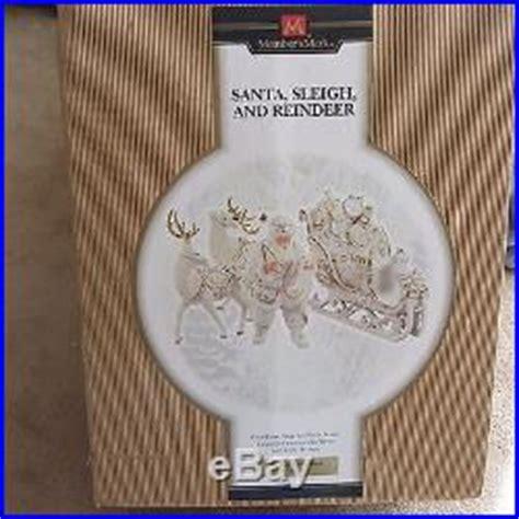 members mark  white gold porcelain santa sleigh