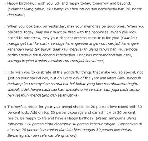 contoh ucapan ulang  bahasa inggris happy birthday merpati tempur