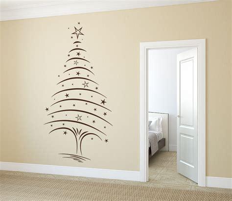 wandtattoo weihnachtsbaum mit sternen von klebeheld 174