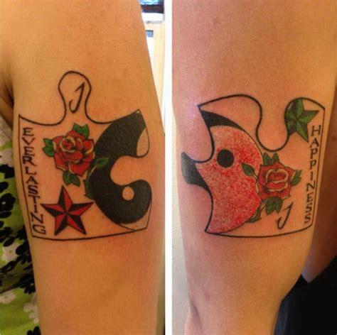tatouage couple puzzle