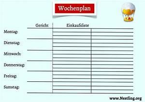 Wochenplan Haushalt Familie : wochenplan f r familiengerichte nestling ~ Markanthonyermac.com Haus und Dekorationen