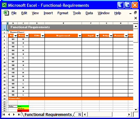 Functional Requirements Template Software Development by Software Requirements Specification Ms Word Template