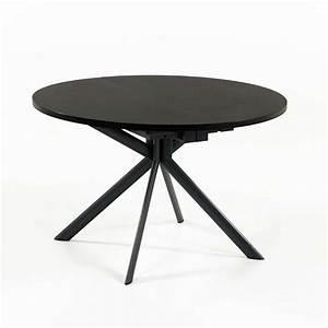 Table Ronde Noire : table ronde extensible en c ramique giove connubia 4 ~ Teatrodelosmanantiales.com Idées de Décoration