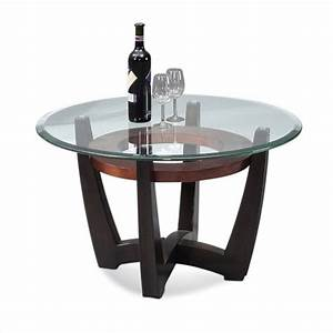 bassett mirror elation round cocktail table in cappucino With mirrored circle coffee table