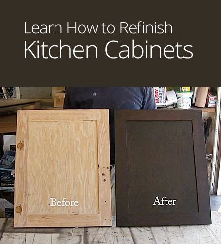 how do i refinish kitchen cabinets how to refinish kitchen cabinets diy pinterest diy
