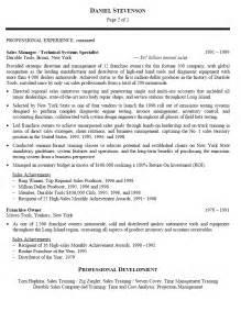 operations management resume sles business development officer resume sales officer