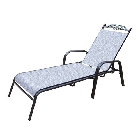 chaises aluminium shop oakland living cascade sling black aluminum patio