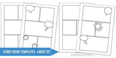 comics drawings template free printable comic book templates picklebums