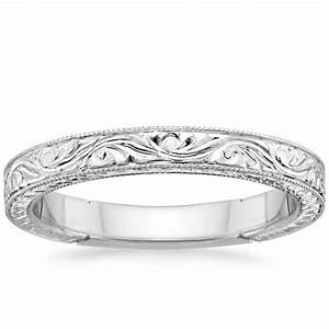 Hand Engraved Laurel Ring Brilliant Earth