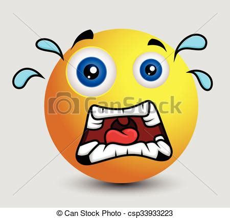 scared emoji smiley emoticon character face expression