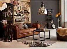 Wohnzimmer Vintage Style Braun - House Interior ...