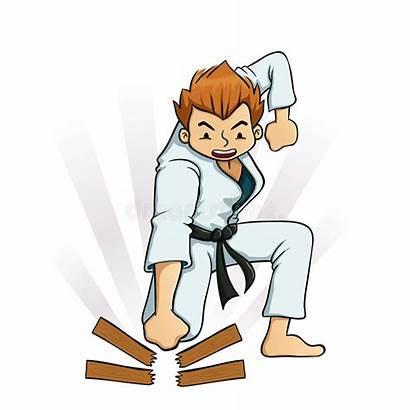 Karate Breaking Board Boards Boy Clipart Clip