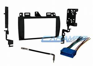 Cadillac Double 2 Din Car Stereo Radio Dash Installation Kit W   Wiring Harness