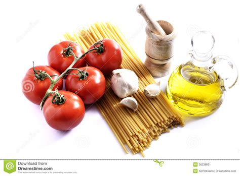 cuisines design industries tomatoes garlic pasta and stock image image 36238831
