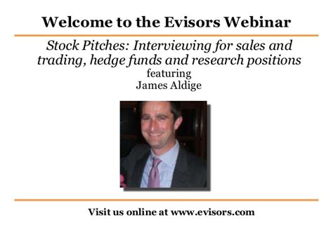 Stock Pitch Resume by Mastering The Stock Pitch