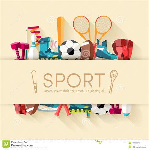 circular concept of sports equipment sticker stock vector