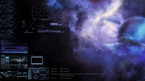concept art control panel exploration mysterious nebulae