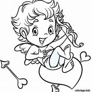 Dessin Saint Valentin : coloriage cupidon sur un coeur dessin ~ Melissatoandfro.com Idées de Décoration