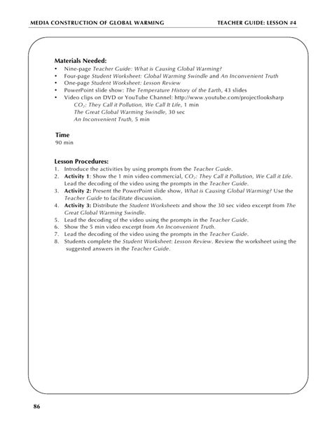 An Inconvenient Truth Worksheet Answers Free Worksheets Library  Download And Print Worksheets