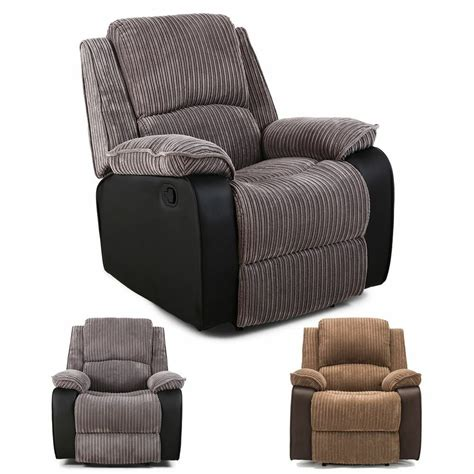 Fabric Reclining Chairs by Postana Jumbo Cord Fabric Power Recliner Armchair Electric
