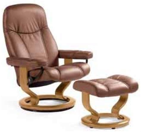 stressless ambassador recliner and ottoman by