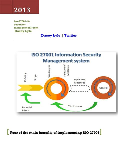 Four Of The Main Benefits Of Implementing Iso 27001