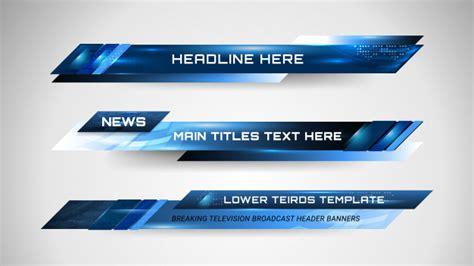 Banners e lower thirds para canal de notícias | Vetor Premium