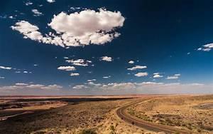 Desert, Road, Clouds, Hd, Wallpaper