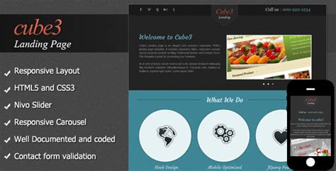 cube template theme forest cube3 landing page by bluenila themeforest
