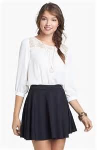 Black and White Skater Skirt