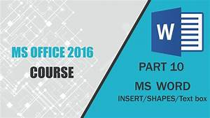 Free Msword Ms Office 2016 Word Insert Shapes Text Box Part 10 R