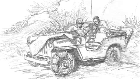 ww2 jeep drawing jeep wwii gis
