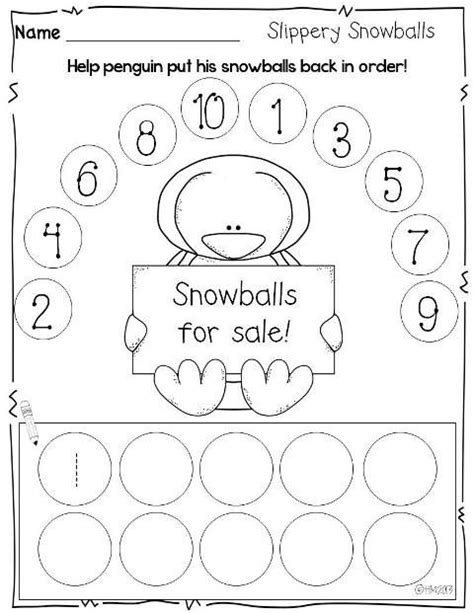 print and go printables for winter number order