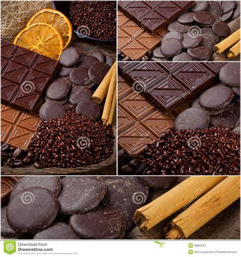 collage chocolate cinnamon therapy cocoa flavor delicious