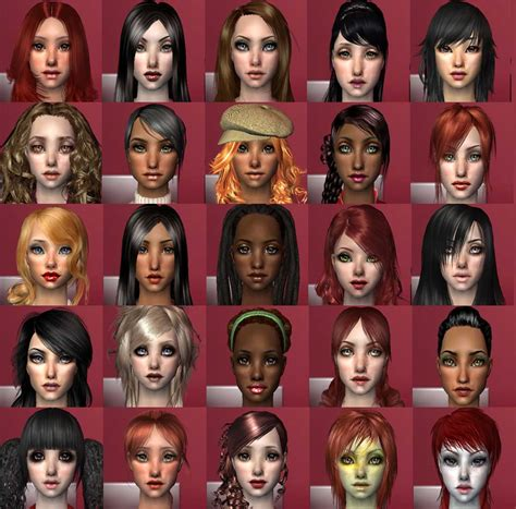 the sims 2 face replacement templates mod the sims full cas face replacement set all ages 26