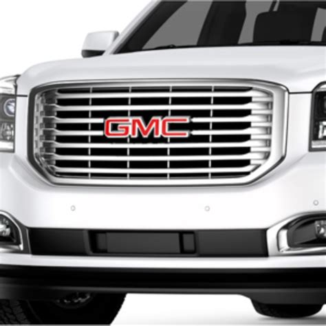 yukon xl front grille  chrome inserts