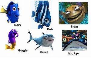 Movie News and Information: Finding Nemo Characters