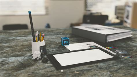 Paper On Desk by Desk Photoshop Pencils Paper Free Stock Photo Negativespace