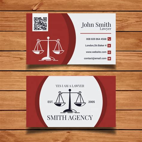 lawyer business card template vector