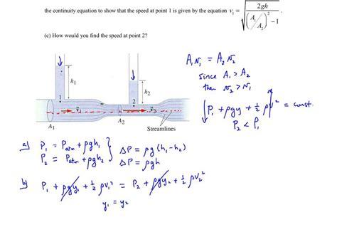 Chapter 11, Example #11 (the Venturi Meter)