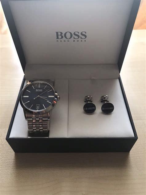 cheap mens hugo boss   cufflinks gift set