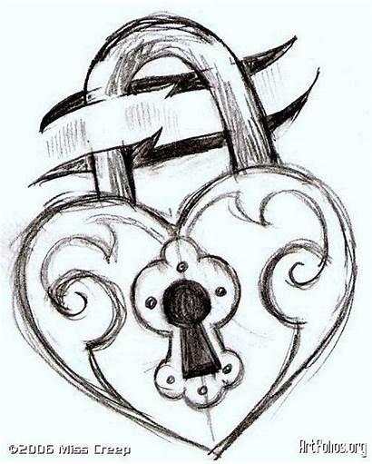 Drawing Lock Teens Ak0 Easy Drawings Draw