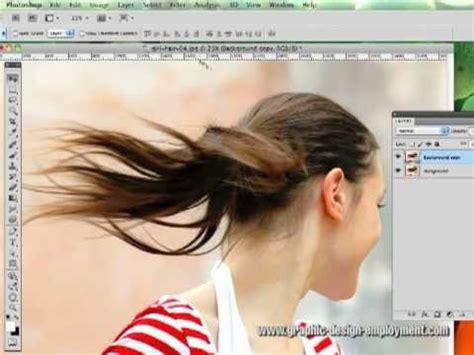 cutting  hair  fluid mask  photoshop tutorial