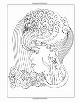 Coloring Adult Natural Hair Amazon Pages Curls Celebrating Books sketch template