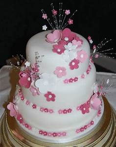 beautiful white and pink wedding cakes (13 ...