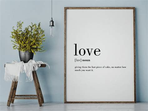love definition print funny love definition love wall
