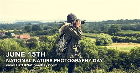 Nature Photography Day  List Of National Days
